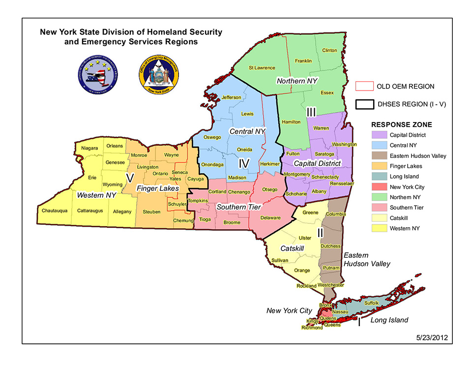 NYS emergency services map