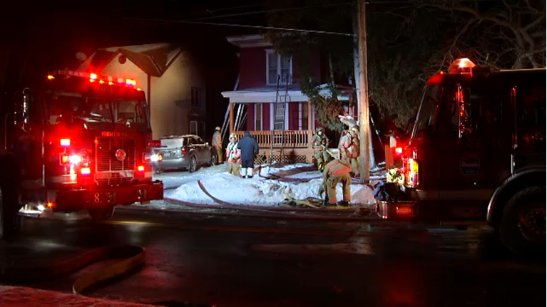 Crews Battle Syracuse House Fire In Frigid Temperatures