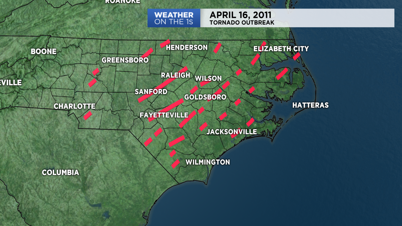 Eight Years Since Largest Tornado Outbreak In Nc