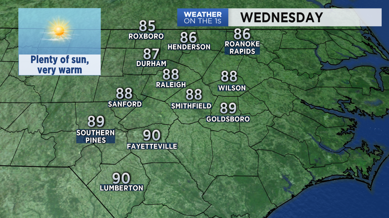 Very Warm for Wednesday's Teacher Rally in Raleigh