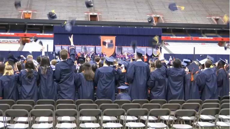 Syracuse Graduation 2020.Syracuse University Moving Commencement Ceremony