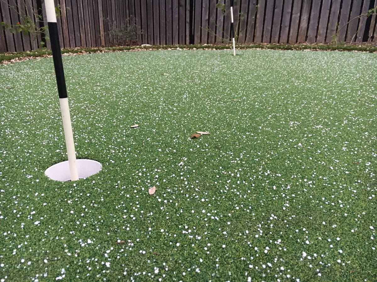 Sleet spotted in Cirlce C by Meteorologist Adam Krueger.